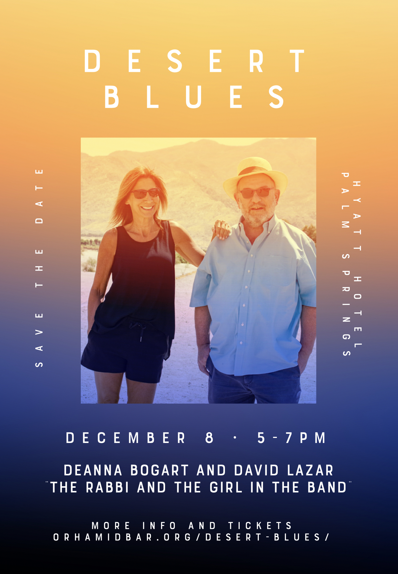Desert Blues Concert Palm Springs - Deanna Bogart - - Or Hamidbar - Rabbi David Lazar - Synagogue Palm Springs Jewish Community
